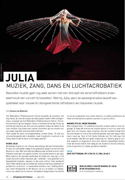 Julia - Uitagenda Rotterdam juni 2015